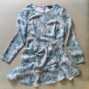 Banana Republic drop waist lng sleeve floral dress
